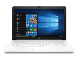 Portátil 15.6'' HP DA0090NS Blanco (Intel Core i3-7020U, 4 GB RAM, 1 TB HDD, Intel UHD 620)